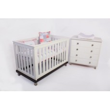 Jade Cot and Dresser Combo